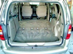 All stains removed, the van is de-odorized, carpet looks like new!